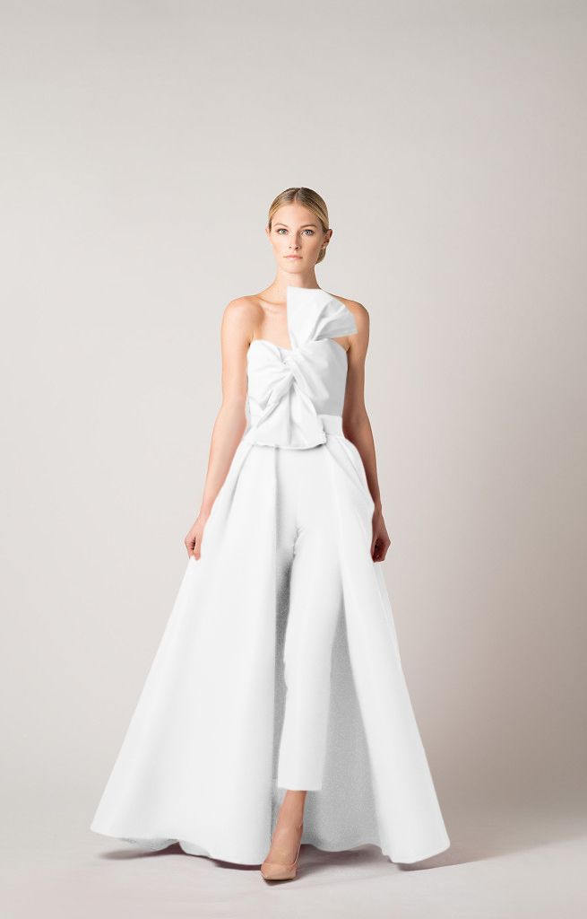 3d2f5a594 Silk Faille Twisted Bow Jumpsuit with Convertible Skirt – Alexia Maria