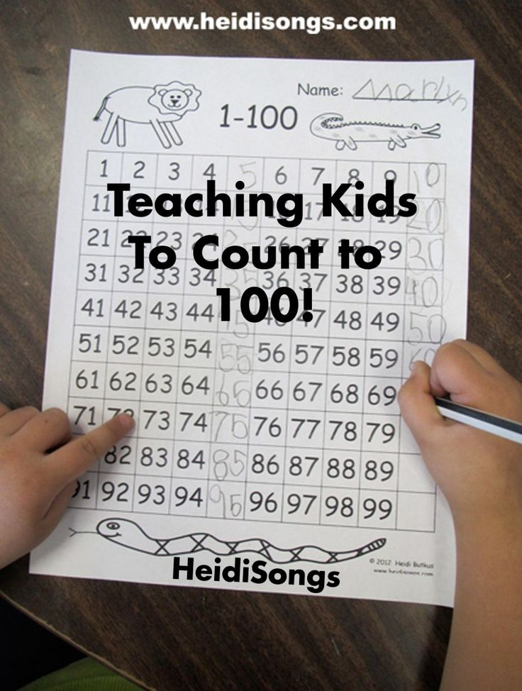 Teaching Kids To Count To 100! Here are five easy to implement, classroom tested, practical ways to help kids learn to count to 100, with a few free downloads included to help you get there.