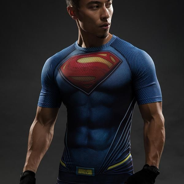 $16.99  Batman VS Superman T Shirt Tee 3D Printed T-shirts Men Short Raglan sleeve Fitness Cosplay Costume Slim Fit Compression Top Male