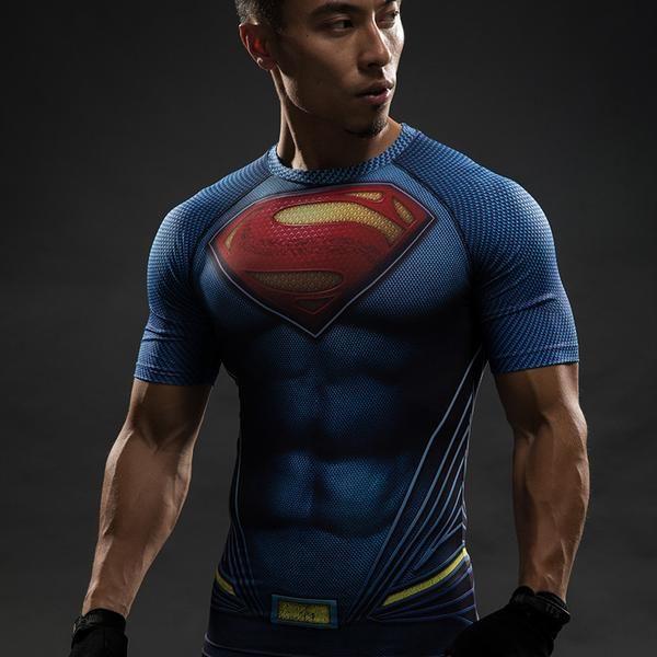 $16.99  Batman VS Superman T Shirt Tee 3D Printed T-shirts Men Short Raglan sleeve Fitness Cosplay Costume Slim Fit Compression Top Male