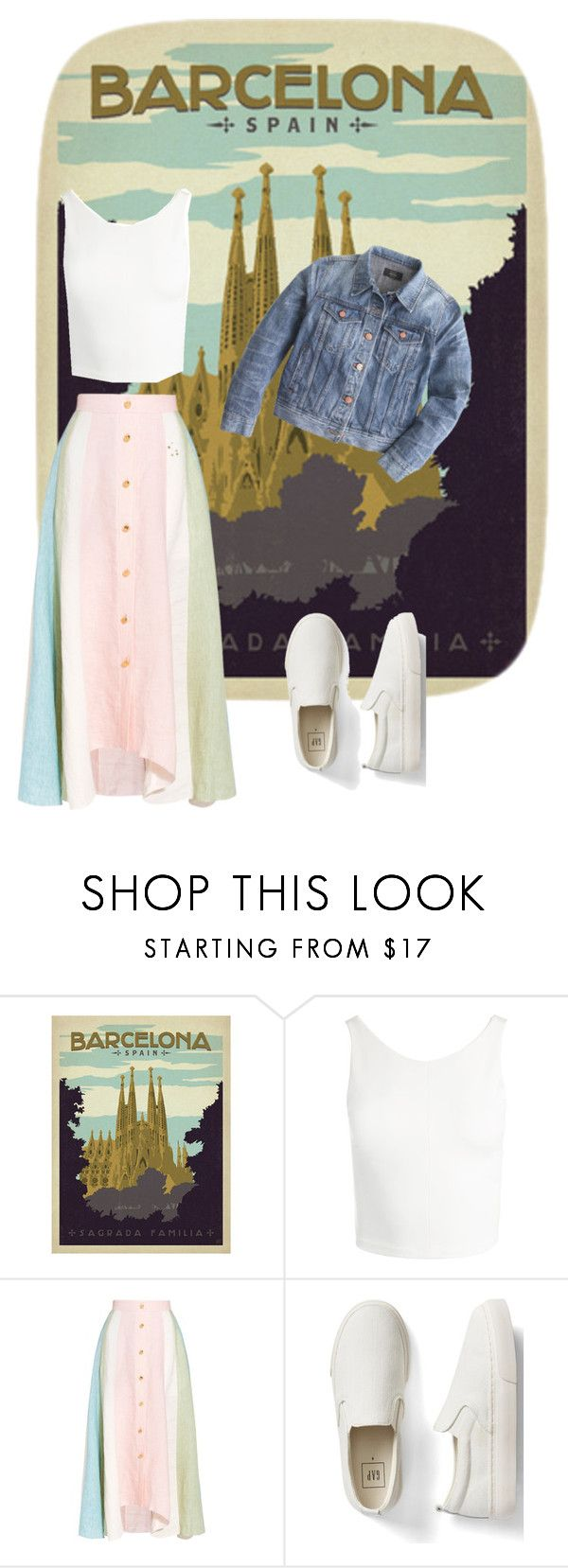 """Untitled #276"" by natalyholly on Polyvore featuring Sans Souci, Peter Pilotto, Gap and J.Crew"