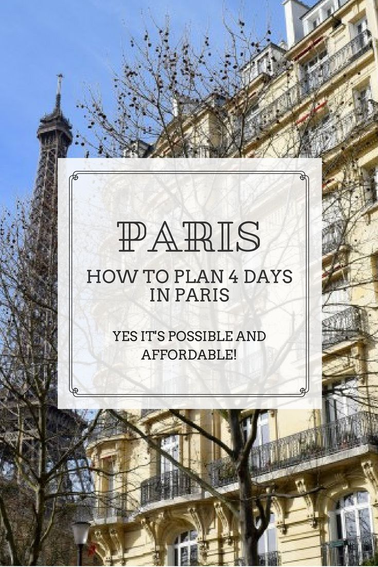 Showing you how I was able to affordably experience Paris in only 4 days! That's a long weekend. And if you do it over a holiday weekend then you don't even need to waste vacation time. Click through for more!