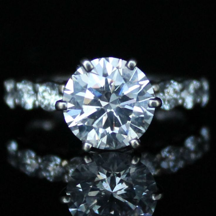 3.08 CTW GIA Certified Engagement Ring * Diamond Exchange Dallas * Wholesale Diamonds * Diamond Engagement Rings Dallas TX