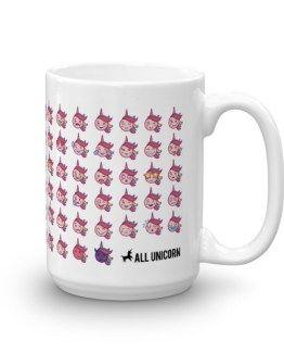 Emoji Unicorn Mug made in US. Order online. Dishwasher safe. Emoji design | Magic unicorn design | Asian emoji design | Unique design | Funny | Tea mug | Coffee mug | Mug recipes
