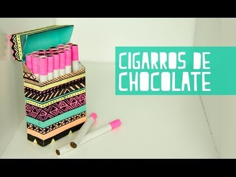 Cigarros de chocolate con cajetilla! (Anie) - YouTube