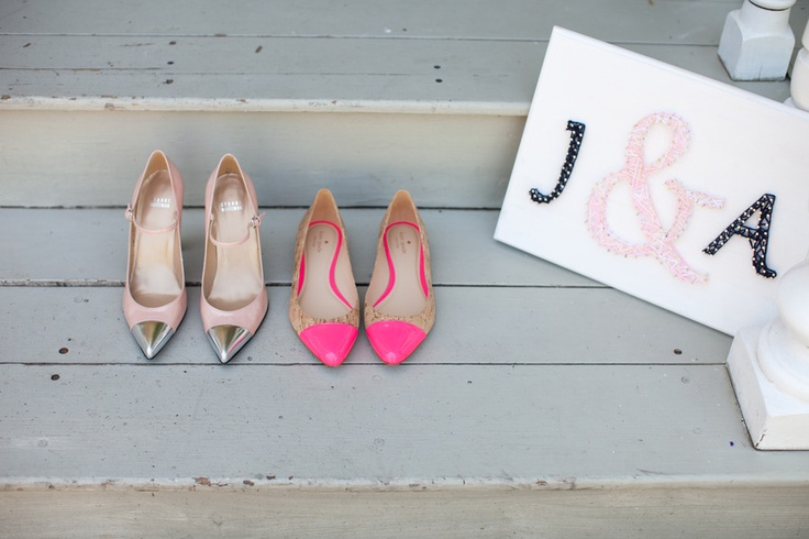cap toe shoes: California Wedding