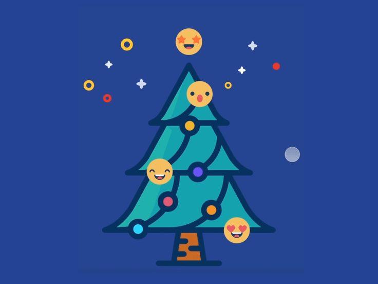 Christmas Tree Emoji Animation by Jianqi Chen