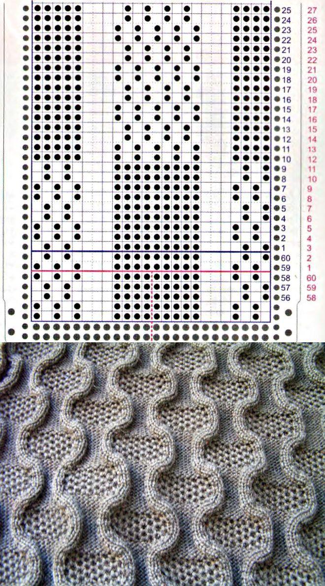 Фанговое переплетение на двух фонтурах, схема. (машина)