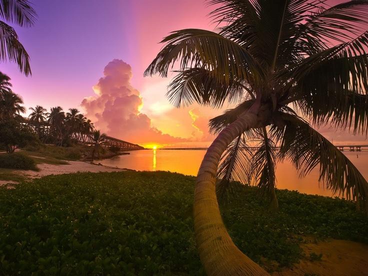 Sunset, Bahia Honda, Florida Keys Sunset wallpaper