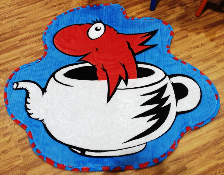 Fish in teapot cuddle rug the cat in the hat cuddle room for Cat in the hat bedroom ideas
