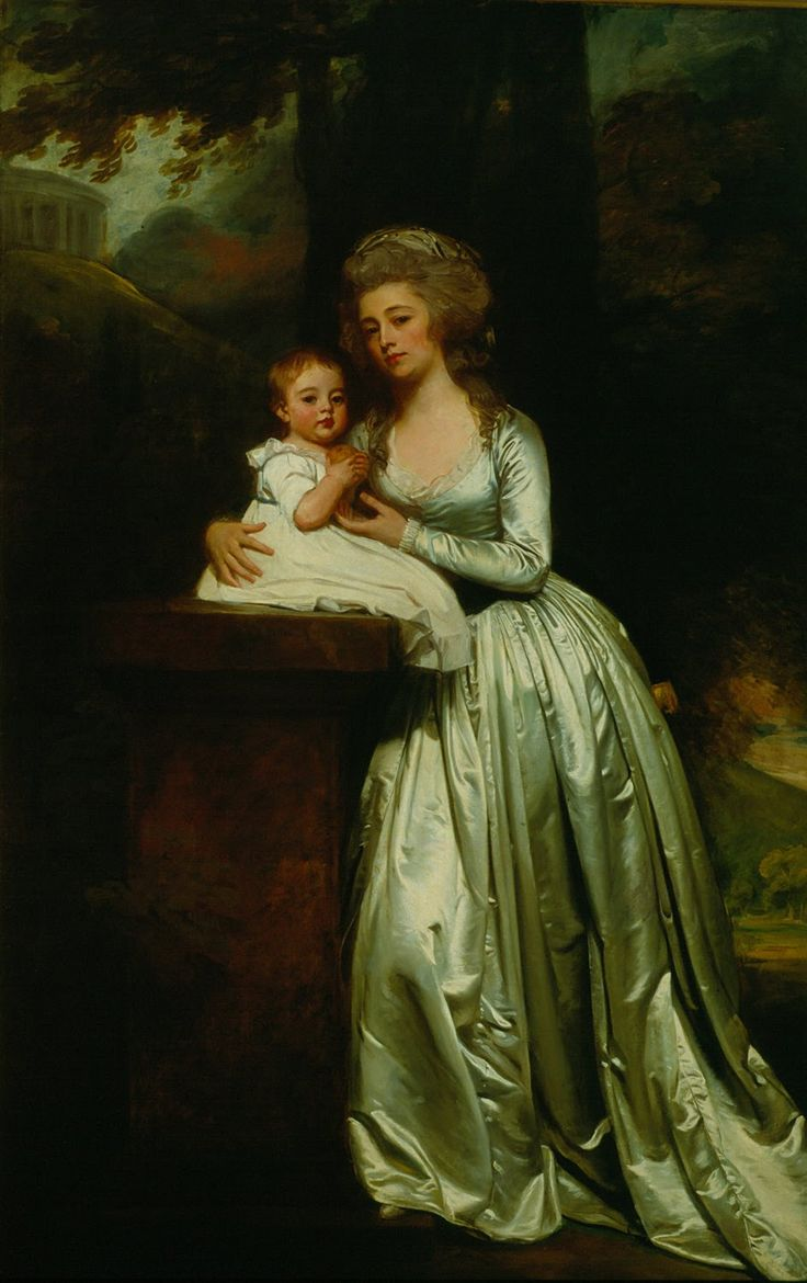 The Athenaeum - Portrait of Mary Rutledge Smith and Son Edward (George Romney - ) 1786