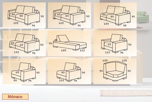 Sofa medidas maquetas pinterest sofas for Sofas de 2 metros