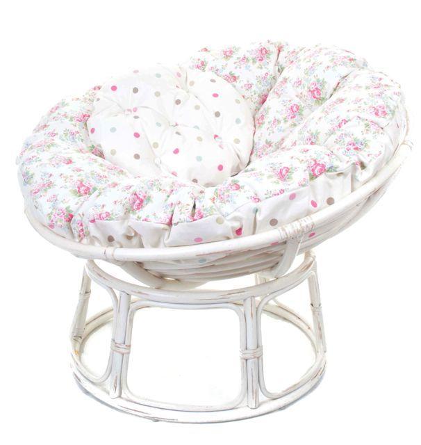 How About An Antique White Papasan Chair With Cath Kidston U0027Spray Flowersu0027  Cushion.