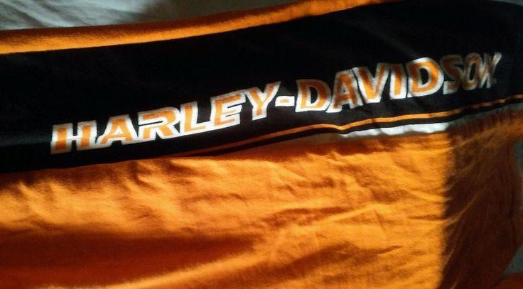Mens Harley Davidson Orange Black Lounge Sleep Sweat Pants Ralph Marlin Size XL #HarleyDavidsonClothing #HarleyDavidsonSweatLoungePants