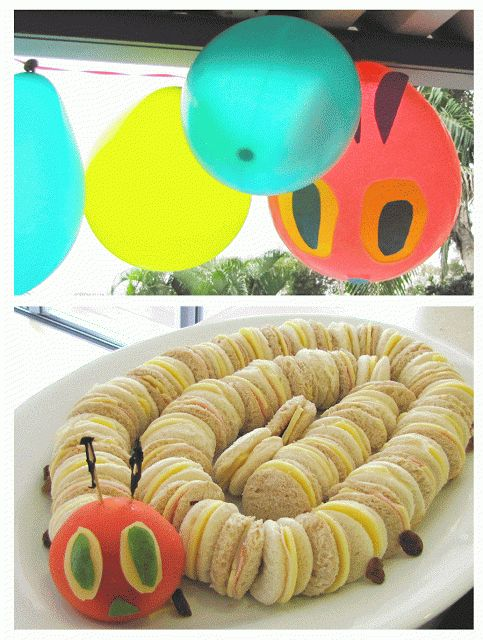 Caterpillar Sandwich Kids Party Food Ideas