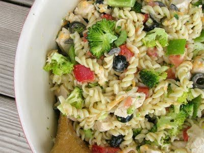Summer Chicken Pasta Salad...no oven required ;o)