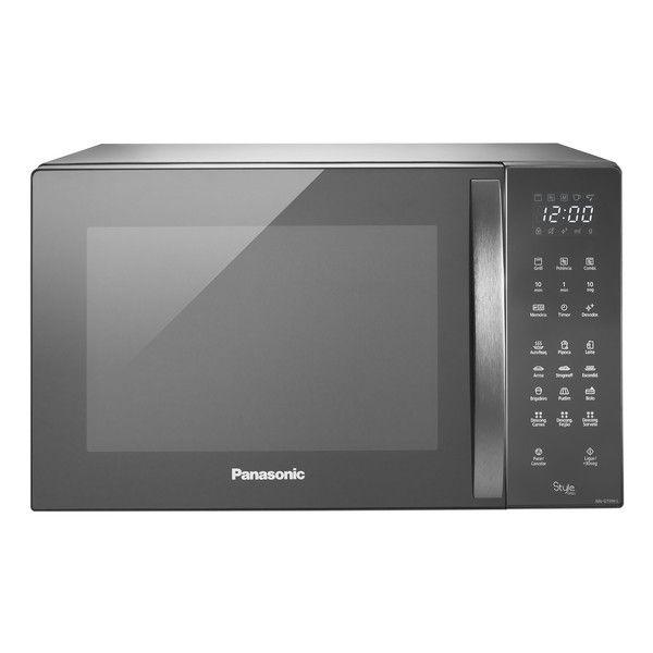 Forno Microondas 30 Litros Gt696srun Style Grill, Porta Espelhada, Inox, 110v - Panasonic