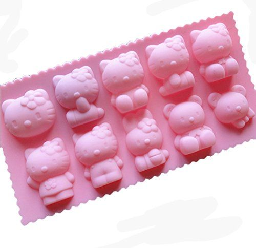 Yunko 10 Cavity Kitty Cat Bear Rabbit Silicone Chocolate Mold Ice Cube Jelly Mold Fudge Mold Candy Mould YunKo http://www.amazon.com/dp/B00SATCWNG/ref=cm_sw_r_pi_dp_e2chwb1J17ACE