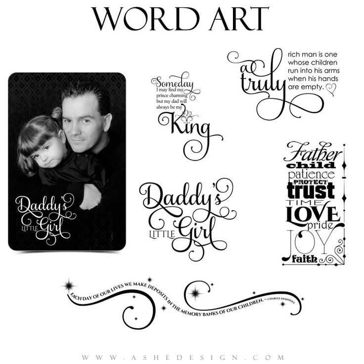 Family Word Art Quotes Daddy Time Word Art Design