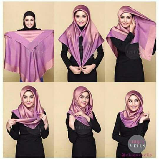 Square scarf style