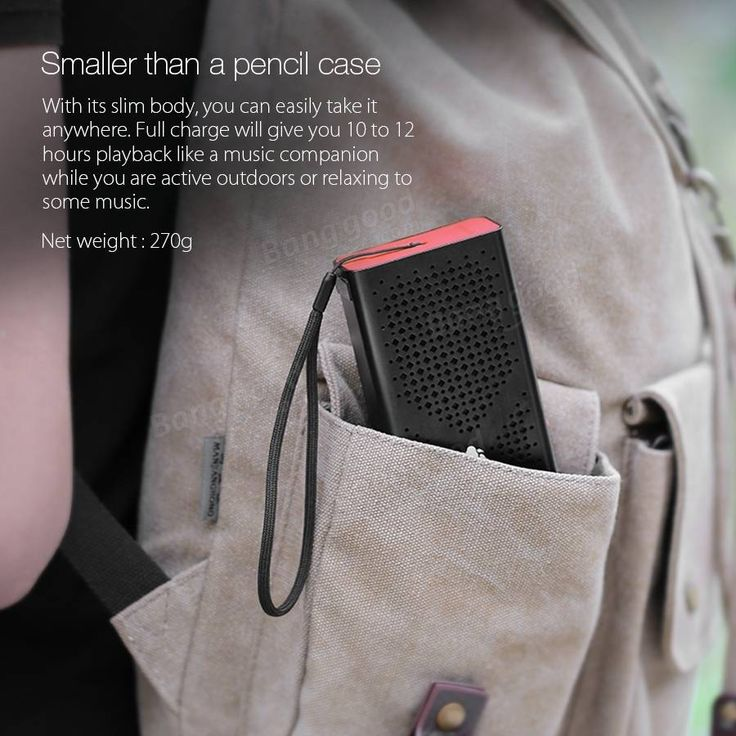 BlitzWolf™ F1 Bluetooth 4.0 Wireless 1800mah Aux-in Hands Free Calls Supported Pocket Speaker Sale-Banggood.com