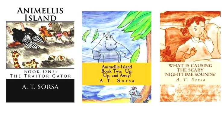 A collection of illustrated children's books by A. T. Sorsa with funny rhymes. Great for preschoolers. Perfect bedtime story!