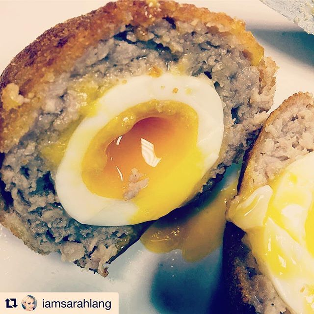 This just HAD to be our winning picture for Sept  congrats @iamsarahlang please email hello@little-kitchen.co.uk to claim your prize!  Everyone do remember to tag us in your photos taken at LK we choose a winner every month! #winner #newskills #foodie #scotcheggs #yum #bristol #foodporn