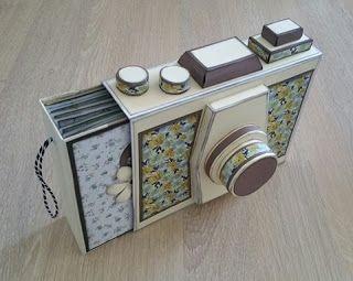 mini #album #scrapbook en forma de cámara