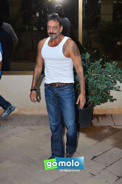 Sanjay Dutt snapped outside his home in Pali Hill, Mumbai