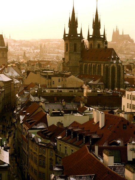 View from the Powder Tower  Prague, Czech Republic