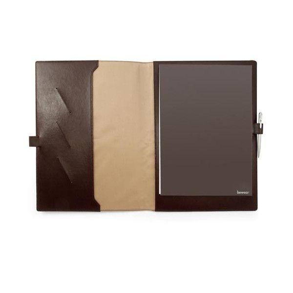 Conférencier personnailsable A4 en cuir recyclé