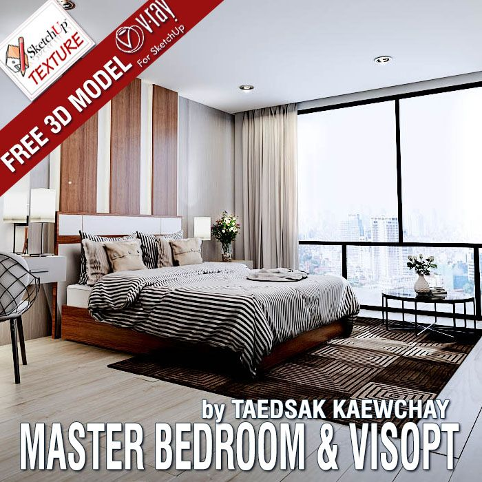 Free Sketchup Model Master Bedroom And Vray Visopt