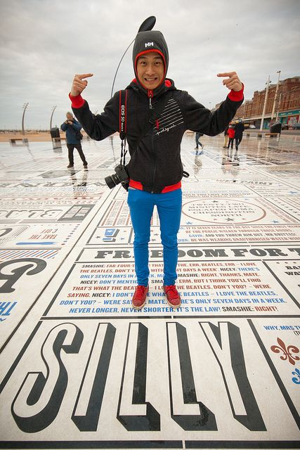 The Comedy Carpet at Blackpool - an homage to comedians! More at http://comedycarpet.com/