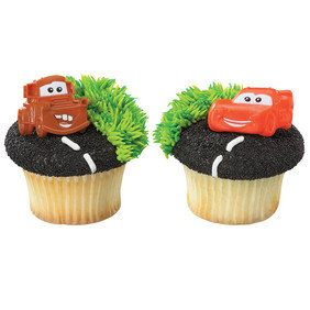 Cars Cupcake Topper Rings - Cars Movie - Lightning McQueen - Tow Mater - Birthday Party - Cupcake - Cupcake Topper - Disney Party by BakeMeHappy on Etsy https://www.etsy.com/listing/288040257/cars-cupcake-topper-rings-cars-movie