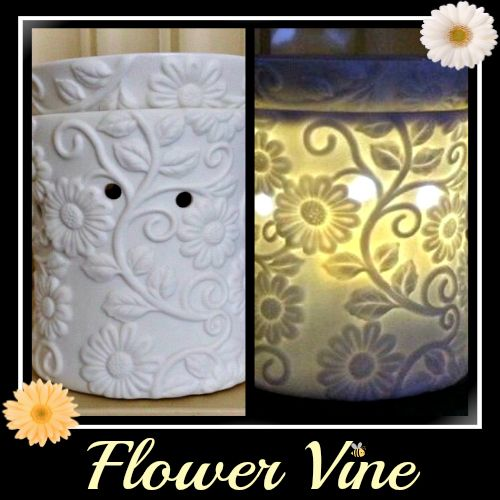 New Flower Vine Warmer Beautiful Lit And Unlit Wwwamandahicks