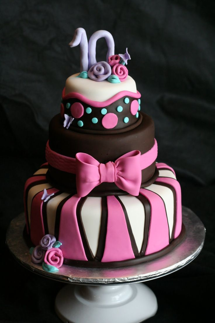 birthday cakes 14 cool birthday cake design ideas for girls 3 tiers fashionable birthday - Birthday Cake Designs Ideas