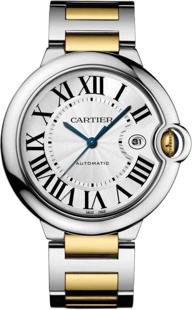 Cartier Ballon Bleu Steel Yellow Gold 42 MM Automatic Watch W69009Z3 £6450