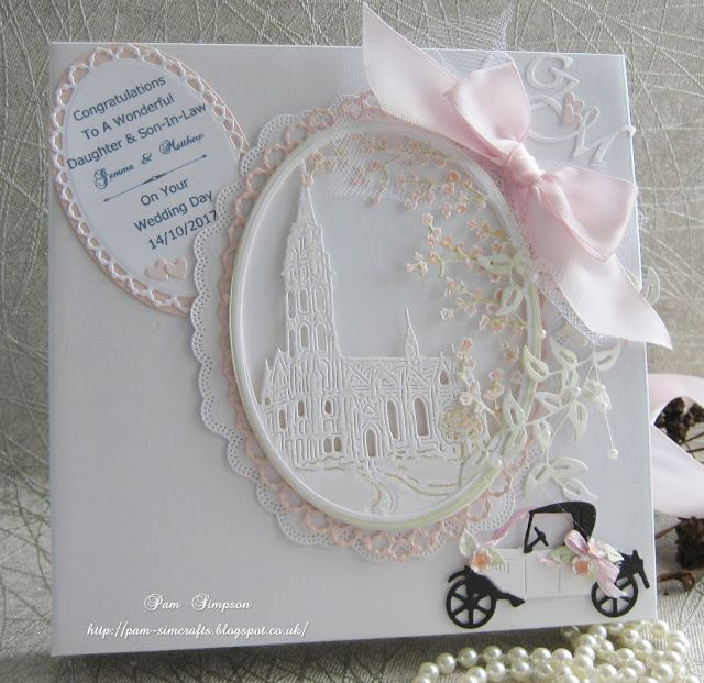 pamscrafts: Wedding book card.