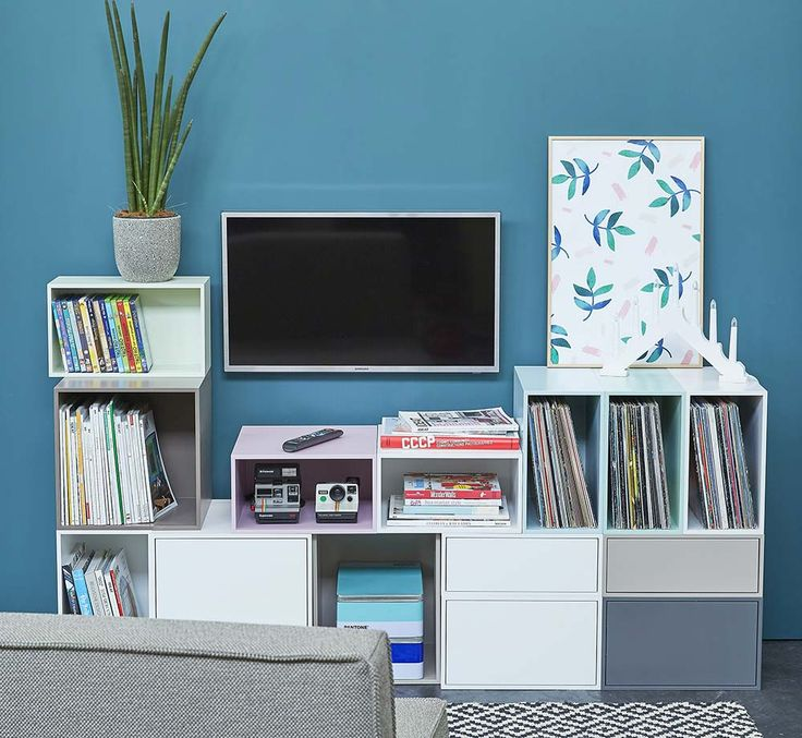 Les 25 meilleures id es concernant meuble tv modulable sur for Meuble mural modulable