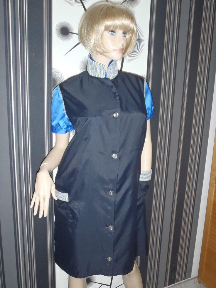 Nylon Kittel Schürze XL Nylon Glanz Blouse Frisör Hauskleid Apron Overall | eBay