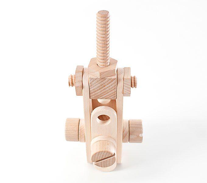 Drewniane klocki konstrukcyjne