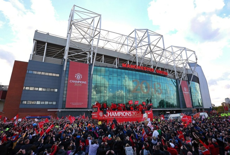 The bus departs from Old Trafford