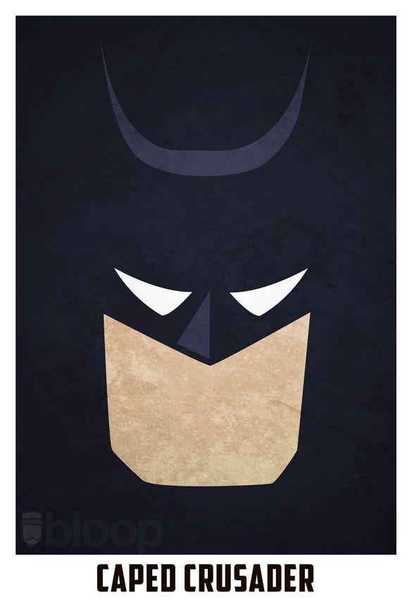 Minimalistic-superhero-illustrated-posters - boy's room idea