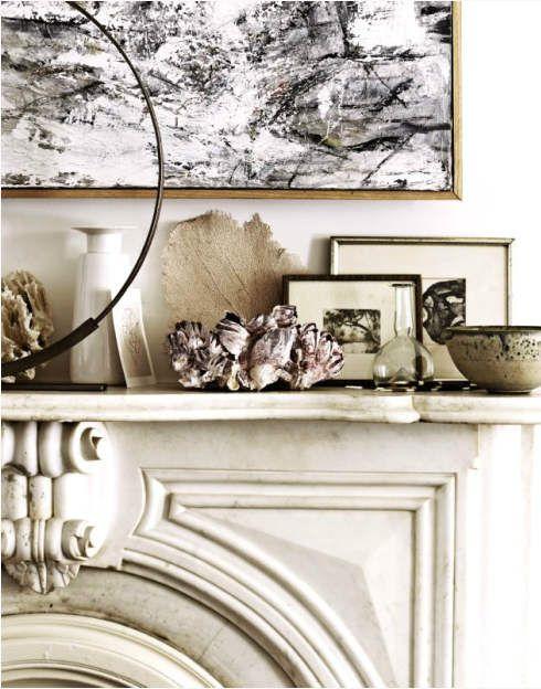 : Interior Design, Mantels, Fireplaces, Living Room, David Prince, Vignette, Mantles