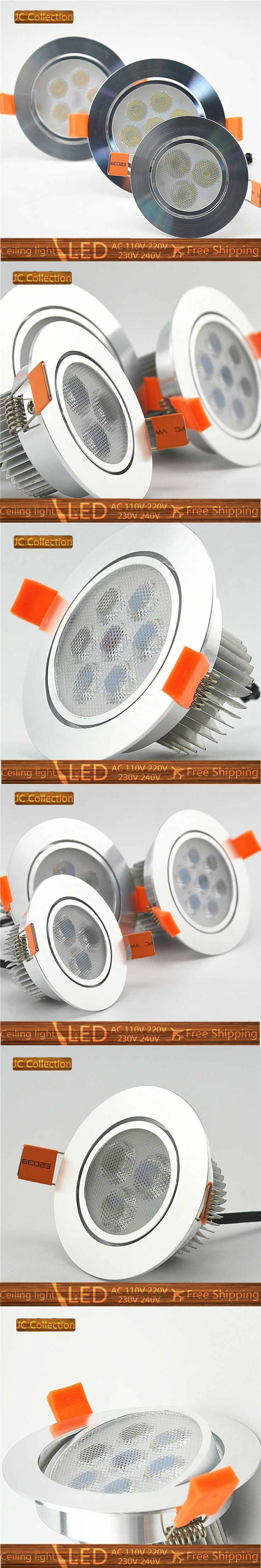 6X LED spotlight bulb lamp 3W 5W 7W Dimmable LED ceiling light Free Shipping Warm Cool White home decor aluminum dimmable dimmer $37.9