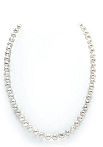 14K Gold 5055mm White Freshwater Cultured Pearl Necklace  AAAA Quality 18 Princess Length ** Visit the image link more details. Note:It is affiliate link to Amazon.