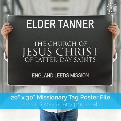 It's just a photo of Rare Missionary Name Tag Printable