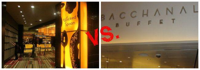 Best Las Vegas Buffet Bacchanal at Caesar's Palace versus Wicked Spoon at The Cosmopolitan