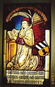 medieval stain glass window