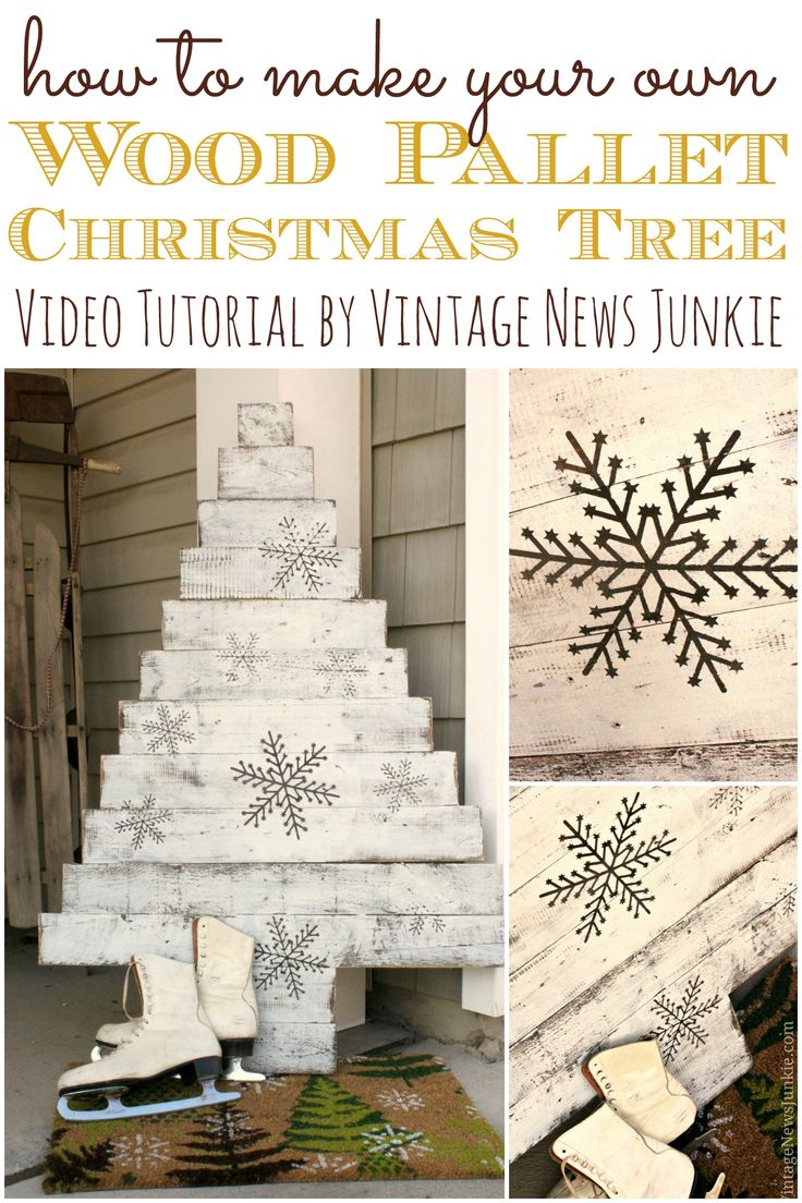 How to Make Your Own Wood Pallet Christmas Tree {Video Tutorial} #12DaysofTrees